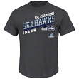 "Seattle Seahawks Majestic 2014 NFC Conference Champions ""Classic"" S/S T-Shirt"