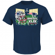 "New England Patriots Majestic NFL Super Bowl XLIX ""On Our Way"" S/S Men's T-Shirt"