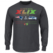 Seattle Seahawks vs New England Patriots NFL Super Bowl XLIX Ticket L/S T-Shirt