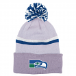 "Seattle Seahawks Mitchell & Ness NFL ""Slate"" Cuffed Knit Hat w/ Pom"