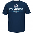 "Colorado Avalanche Majestic ""Puck Clearing"" Cool Base S/S Men's T-Shirt"