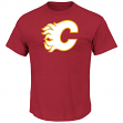 Calgary Flames Majestic NHL Vintage Tek Patch Embroidered Premium T-Shirt