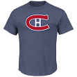 Montreal Canadiens Majestic NHL Vintage Tek Patch Embroidered Premium T-Shirt