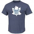 Toronto Maple Leafs Majestic NHL Vintage Tek Patch Embroidered Premium T-Shirt