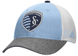 Sporting Kansas City Adidas MLS Authentic Team Structured Adjustable Mesh Hat