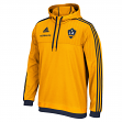 Los Angeles Galaxy Adidas MLS Authentic On Field Pullover Hooded Sweatshirt