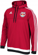 New York Red Bulls Adidas MLS Authentic On Field Pullover Hooded Sweatshirt