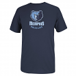 Memphis Grizzlies Adidas NBA Primary Logo Men's Navy T-Shirt