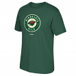 "Minnesota Wild Reebok NHL ""Jersey Crest"" Men's Green T-Shirt"