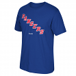 "New York Rangers Reebok NHL ""Jersey Crest"" Men's Blue T-Shirt"