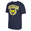 "Michigan Wolverines Adidas NCAA ""Trefoil Laurel"" Tri-Blend Premium T-Shirt"