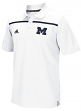 Michigan Wolverines Adidas NCAA 2015 Sideline Climalite Coaches Polo - White