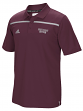 Mississippi State Bulldogs Adidas 2015 Sideline Climalite Coaches Polo - Maroon