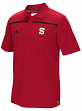 North Carolina State Wolfpack Adidas 2015 Sideline Climalite Coaches Polo - Red