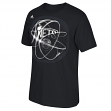 "Brooklyn Nets Adidas NBA ""Horizons"" Premium Print S/S Men's T-Shirt"