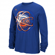"New York Knicks Adidas NBA ""Horizons"" Premium Print L/S Men's T-Shirt"