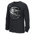 "Brooklyn Nets Adidas NBA ""Horizons"" Premium Print L/S Men's T-Shirt"