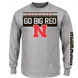 "Nebraska Cornhuskers Majestic ""Breathe Victory"" Long Sleeve Gray T-Shirt"