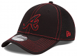 Atlanta Braves MLB New Era 39THIRTY Black Team Neo Fitted Hat
