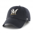 Milwaukee Brewers 47 Brand MLB Clean Up Adjustable Navy Hat - Home