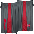 "Nebraska Cornhuskers Majestic NCAA ""All Day"" Mens' Performance Shorts - Gray"
