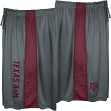"Texas A&M Aggies Majestic NCAA ""All Day"" Mens' Performance Shorts - Gray"