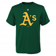 "Oakland Athletics Youth Majestic MLB ""Primary Logo"" T-Shirt - Green"