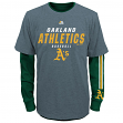"Oakland Athletics Youth Majestic MLB ""Triple Play"" 3 in 1 T-Shirt Combo Set"