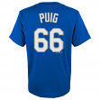 Yasiel Puig Los Angeles Dodgers Youth Majestic MLB Player Blue T-Shirt