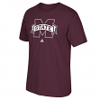 "Mississippi State Bulldogs Adidas NCAA ""Team Logo"" Men's Maroon T-Shirt"