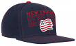 New England Revolution Adidas MLS Authentic Flat Brim Team Snap Back Hat