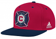 Chicago Fire Adidas MLS Authentic Flat Brim Team Snap Back Hat