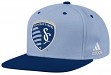 Sporting Kansas City Adidas MLS Authentic Flat Brim Team Snap Back Hat