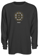 "Boston Bruins Reebok NHL ""Faded Logo"" Long Sleeve Thermal Shirt"