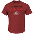 "San Francisco 49ers Majestic NFL ""Red Zone"" Men's Short Sleeve Premium T-Shirt"