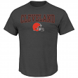 "Cleveland Browns Majestic NFL ""Red Zone"" Men's Short Sleeve Premium T-Shirt"
