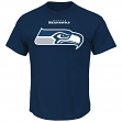 Seattle Seahawks Majestic NFL Critical Victory Men's T-Shirt - Navy