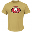 San Francisco 49ers Majestic NFL Critical Victory Men's T-Shirt - Gold