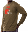 Cleveland Browns Majestic NFL Critical Victory Men's Long Sleeve Brown T-Shirt