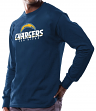 San Diego Chargers Majestic NFL Critical Victory Men's Long Sleeve Navy T-Shirt