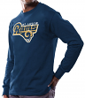 St. Louis Rams Majestic NFL Critical Victory Men's Long Sleeve Navy T-Shirt