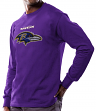 Baltimore Ravens Majestic NFL Critical Victory Men's Long Sleeve Purple T-Shirt