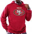 San Francisco 49ers Majestic NFL Critical Victory Hooded Sweatshirt - Red