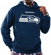 Seattle Seahawks Majestic NFL Critical Victory Hooded Sweatshirt - Navy
