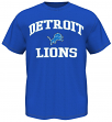 Detroit Lions Majestic NFL Heart & Soul III Men's Blue T-Shirt