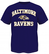 Baltimore Ravens Majestic NFL Heart & Soul III Men's Purple T-Shirt