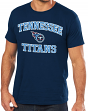 Tennessee Titans Majestic NFL Heart & Soul III Men's Navy T-Shirt