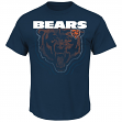 "Chicago Bears Majestic NFL ""Empty Backfield"" Men's Short Sleeve T-Shirt"