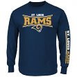 St. Louis Rams Majestic NFL Primary Receiver Long Sleeve Men's T-Shirt