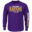 Baltimore Ravens Majestic NFL Primary Receiver Long Sleeve Men's T-Shirt